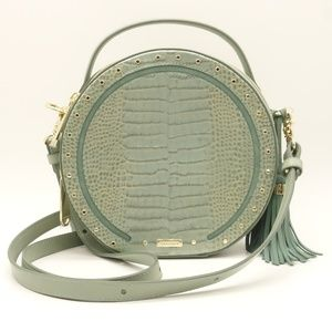NWT BRAHMIN Lane Crossbody Teal Harrison Leather